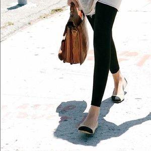 Toms Black Leather Alessandra Ballet Flat 6